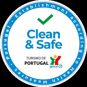 Logo turismo Portugal que certifica estabelecimento clean and safe de acordo com medidas de saúde
